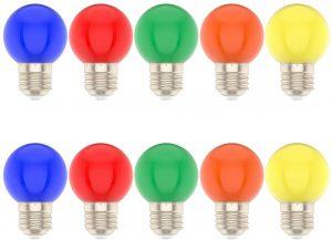lot d'ampoules de couleurs differentes